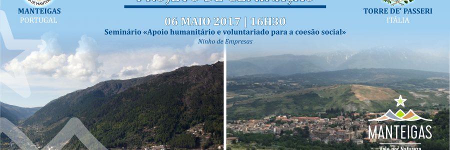 2.º encontro – Apoio humanitário e voluntariado para a coesão social