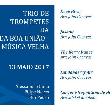 Folha de Sala – Trio de Trompetes da BBU-Musica Velha